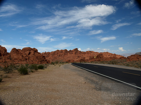 The Valley of Fire not far from Las Vegas